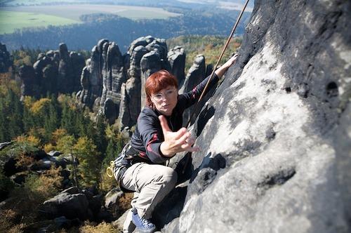 Klettern im Sandstein der Sächsischen Schweiz 00029