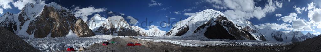 "Panorama ""Hidden Peak Base Camp"""