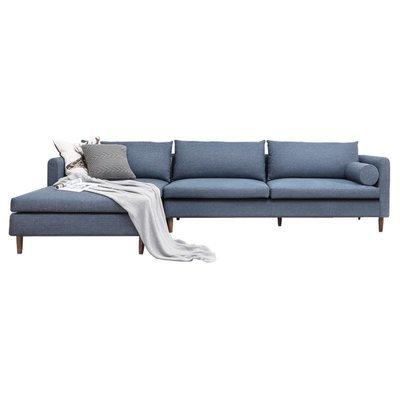 Muted Blue Modern Sofa