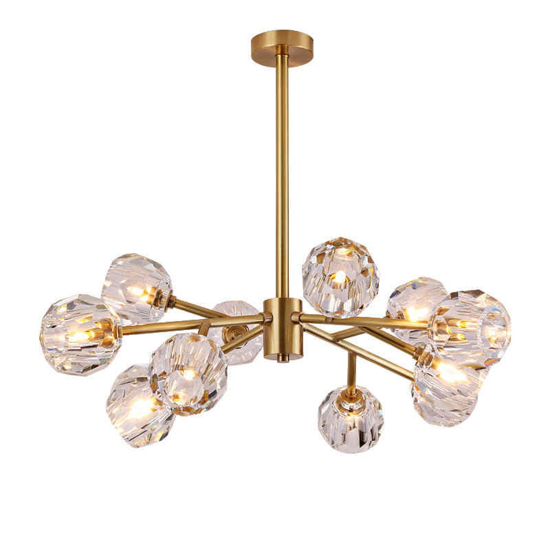 Leila Contemporary Crystal Chandelier LCCC363