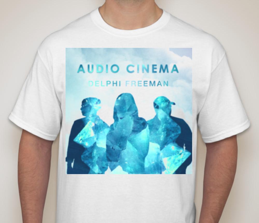 Delphi White T Shirt Blue Logo (Large) DWTBL