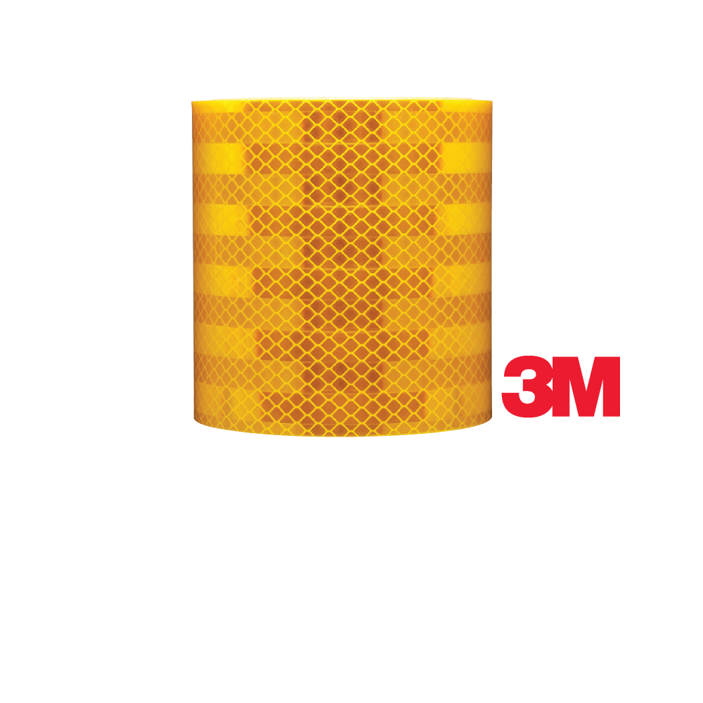 2 Inch by 10 ft Reflective Striping- School Bus Yellow