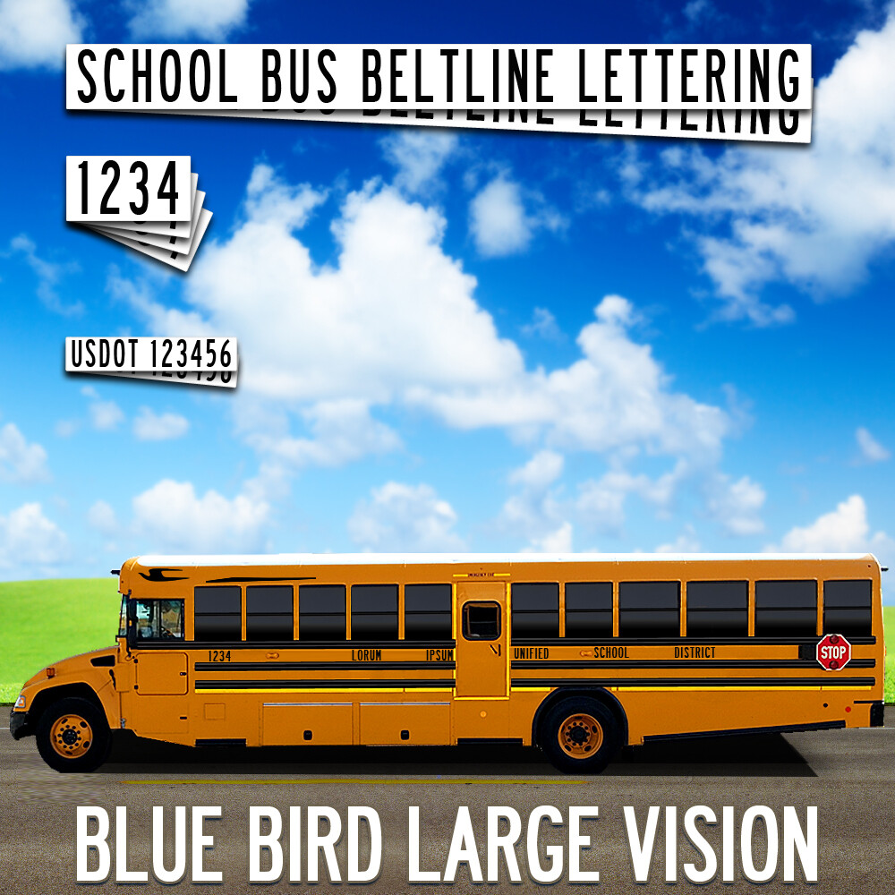 Blue Bird Large Vision Lettering