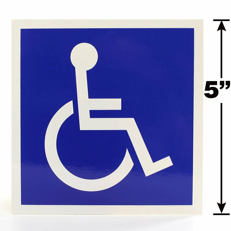 Symbol of Accessibility Label - ISA ADA 5-inch
