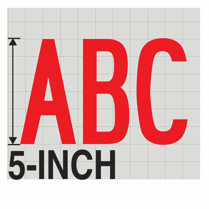 5-Inch RED VINYL LETTERING