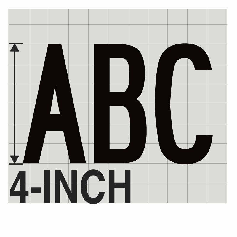 4-Inch BLACK VINYL LETTERING