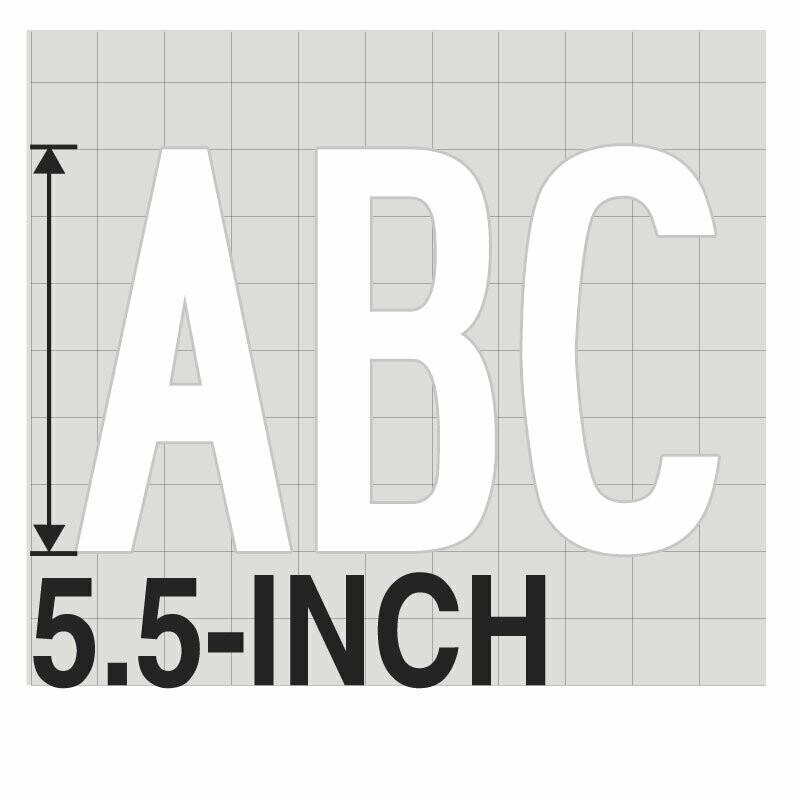 5.5-Inch WHITE VINYL LETTERING