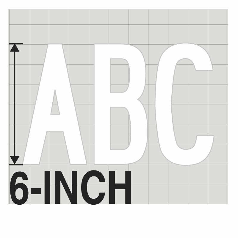 6-Inch WHITE VINYL LETTERING