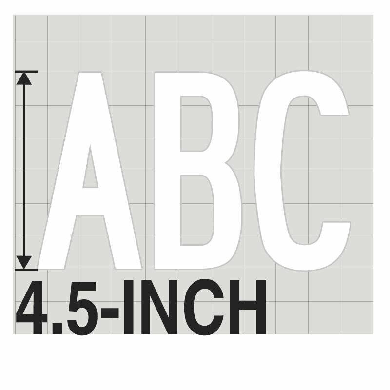 4.5-Inch WHITE VINYL LETTERING