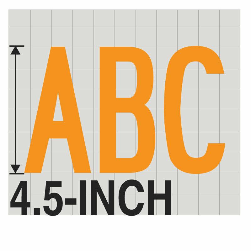 4.5-Inch YELLOW VINYL LETTERING
