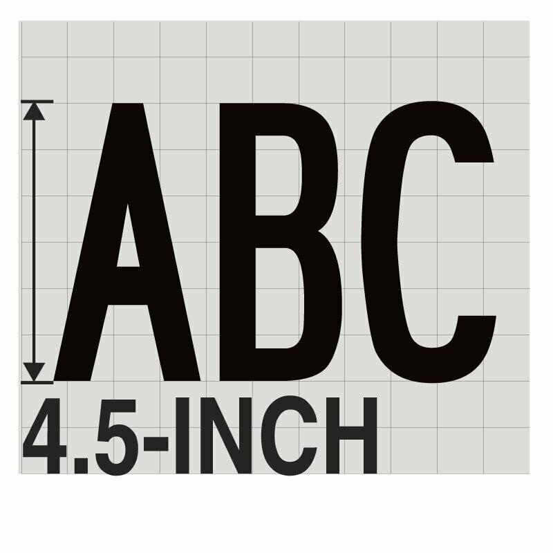 4.5-Inch BLACK VINYL LETTERING