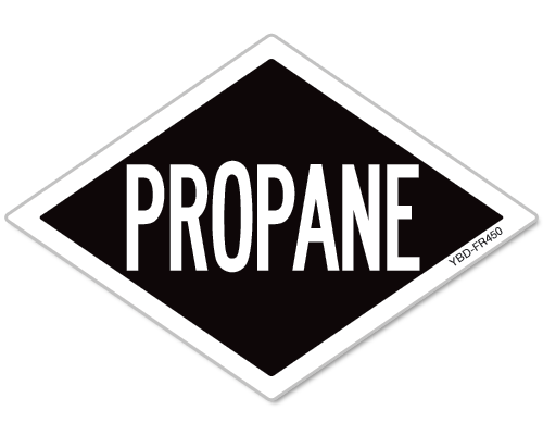Propane Diamond Reflective Decal