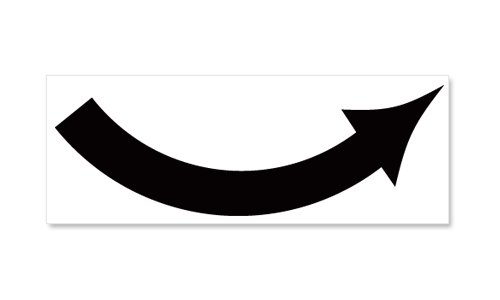 Universal Curved Arrow- Direction and Color Options
