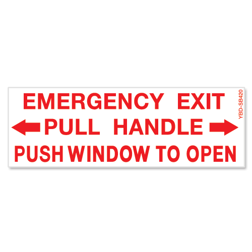 Emergency Exit Pull Handle Push Window To Open