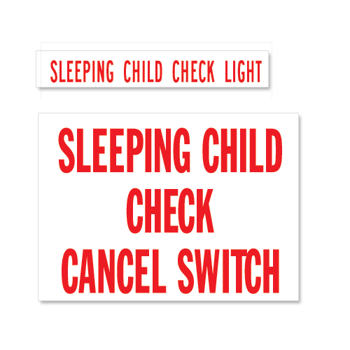 Sleeping Child Check & Cancel Set