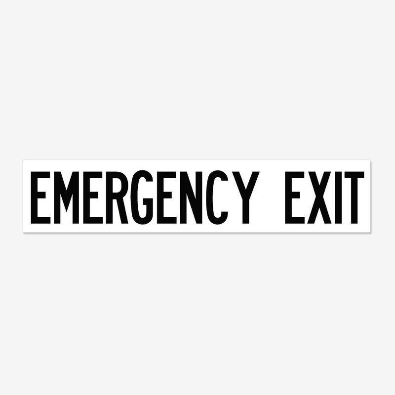Emergency Exit- Black
