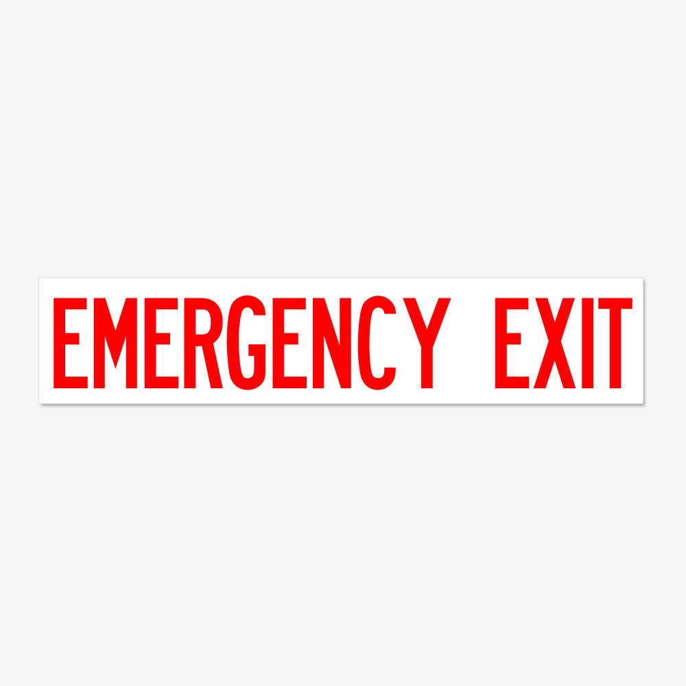 Emergency Exit- Red Letters