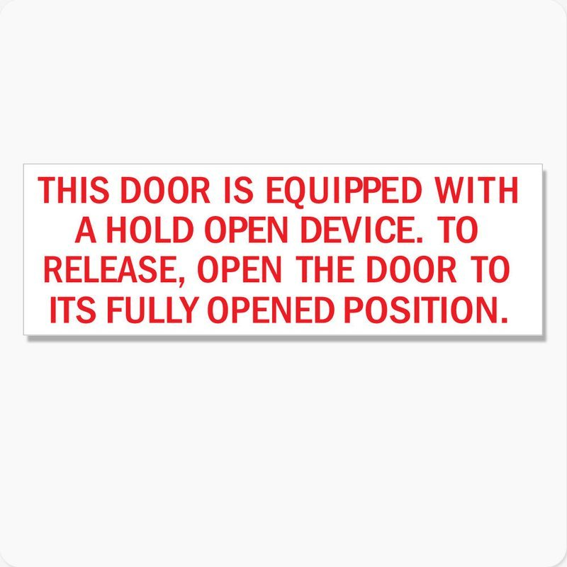 Door Hold Open Device Instructions