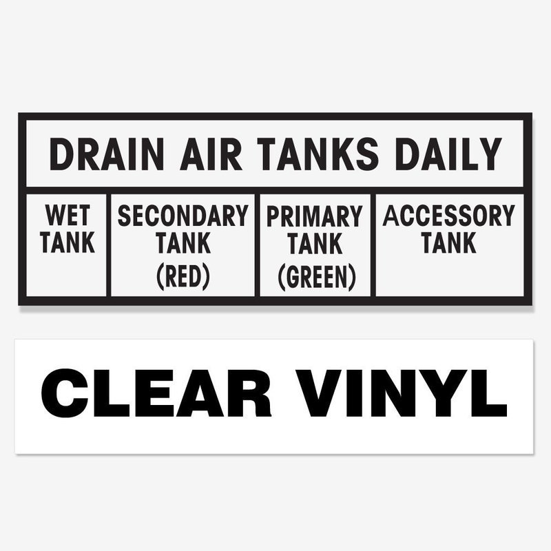 Drain Air Tanks Daily