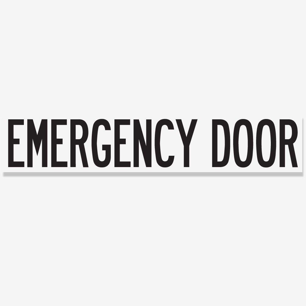 Emergency Door - Black