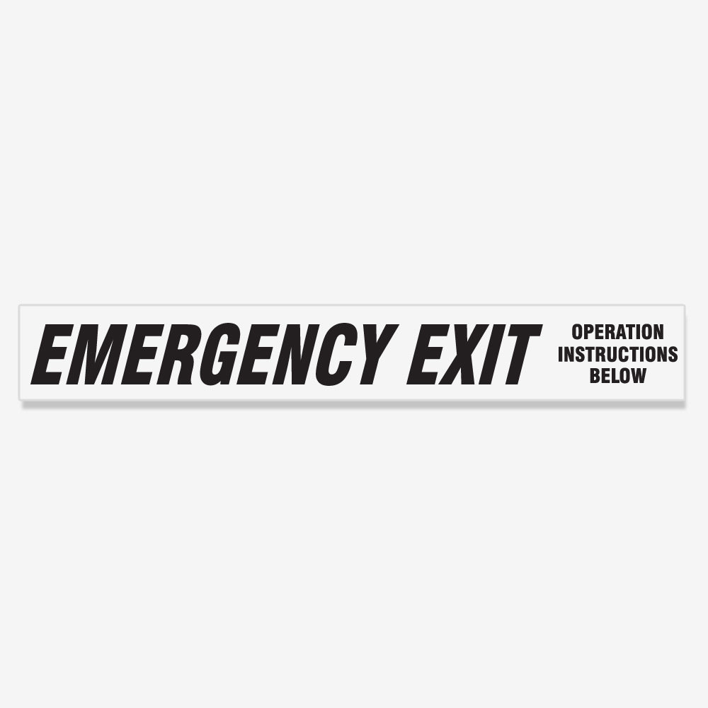 Emergency Exit Instructions Below