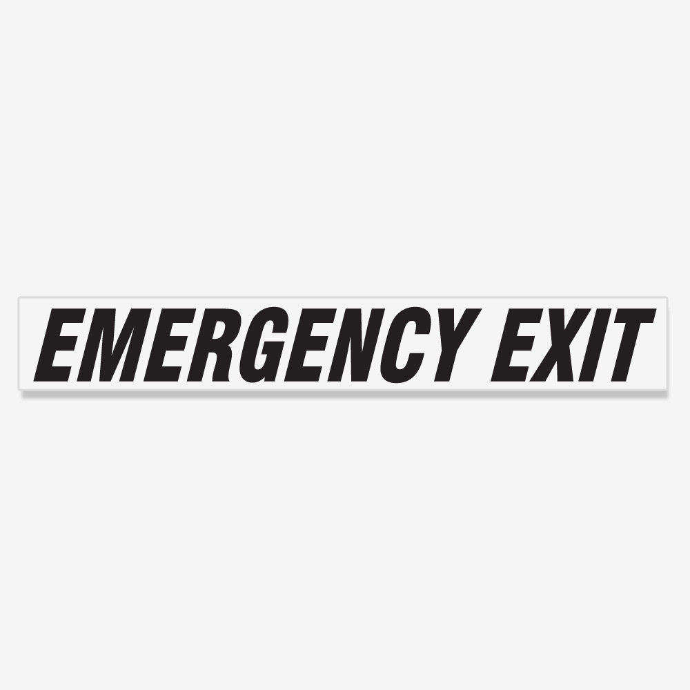 Emergency Exit Italic- Black