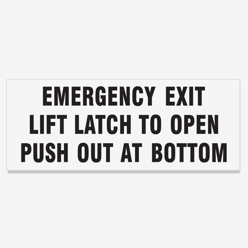 Emergency Exit Lift Latch to Open Push Out at Bottom - Black