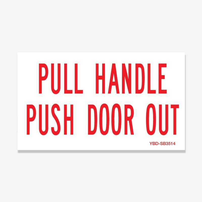 Emergency Exit Pull Handle Push Door Out