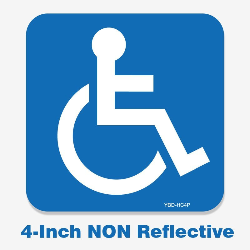 Handicap Decal 4 Inch