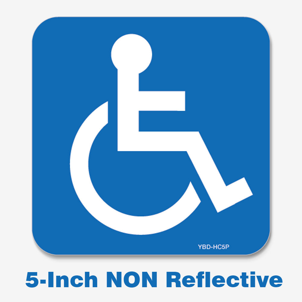 Handicap Decal 5 Inch