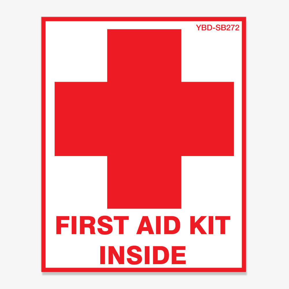 First Aid Kit Inside with Cross