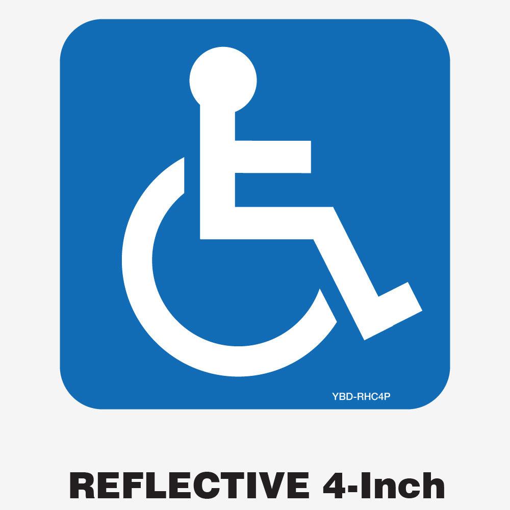 Reflective Handicap Decal 4 Inch