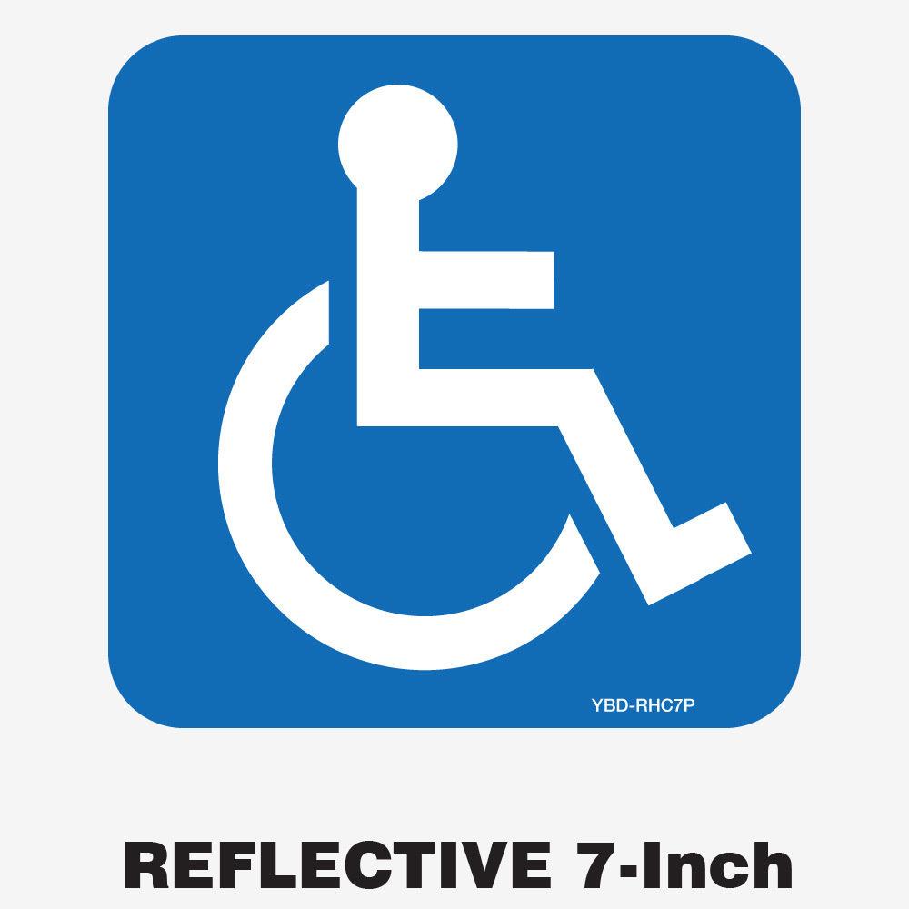 Reflective Handicap Decal 7 Inch