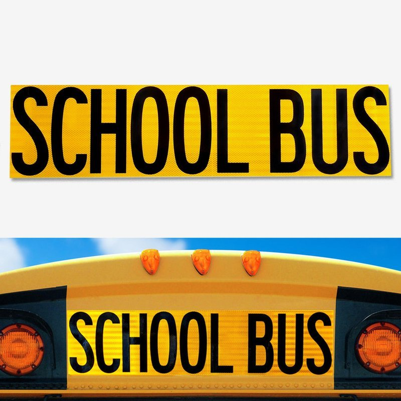 UNIVERSAL REFLECTIVE School Bus Decal 8