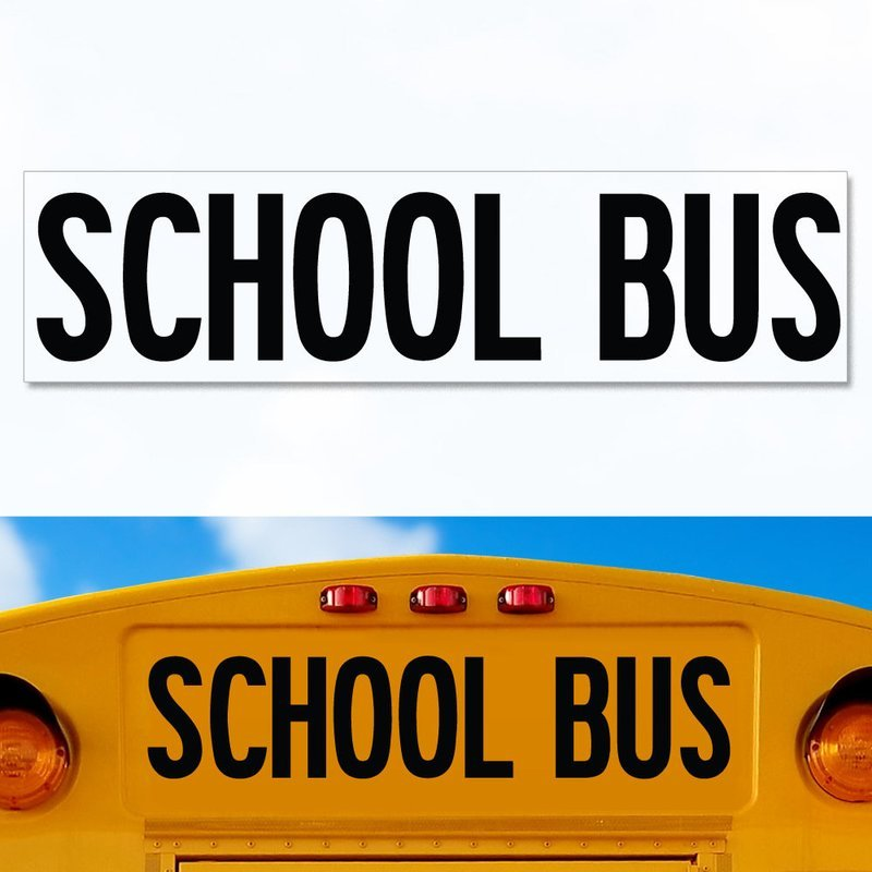Thomas Minotour School Bus Decal replacement