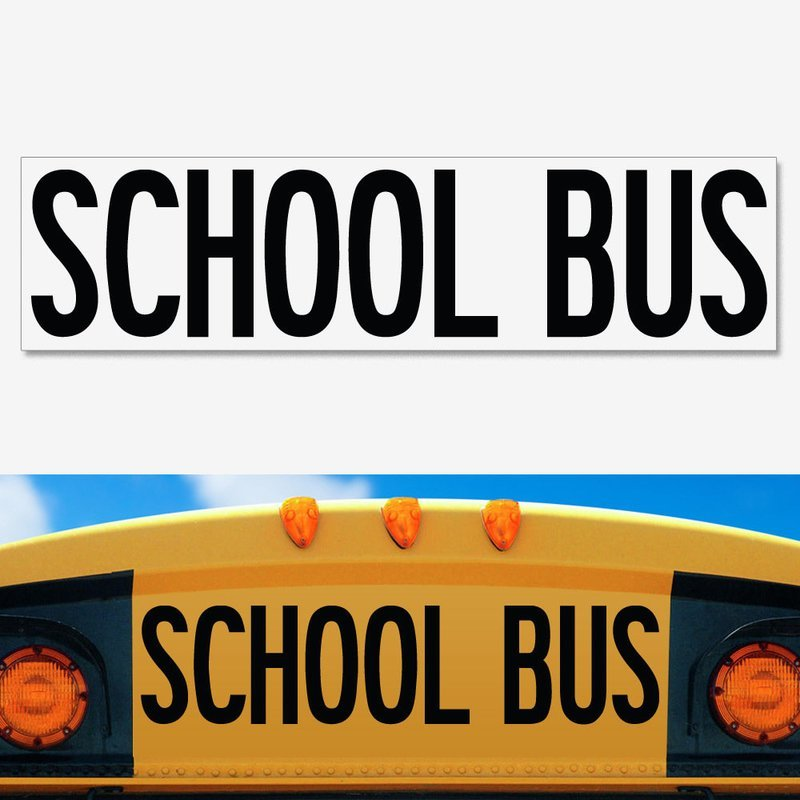 UNIVERSAL School Bus Decal 8