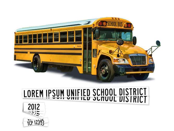 Large Blue Bird School Bus