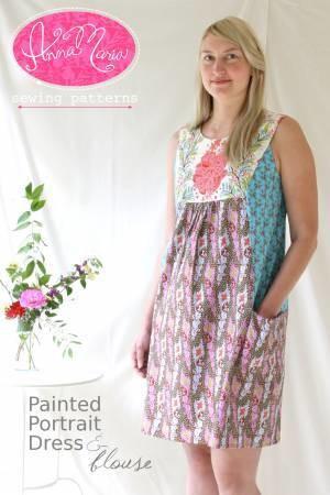Anna Maria Painted Portrait Dress
