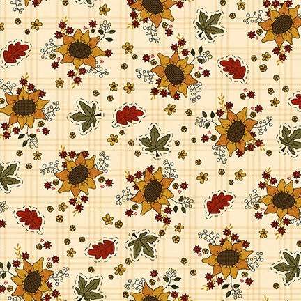 Henry Glass Live Within Your Harvest Sunflowers Cream