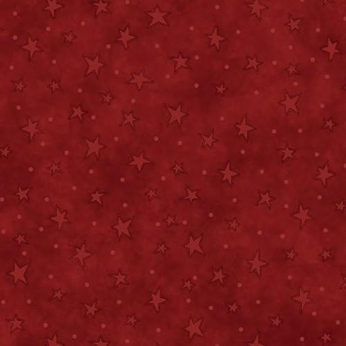 Henry Glass Starry Basics Red