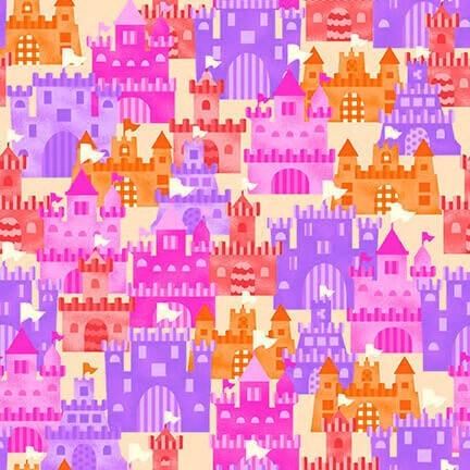 Studio E Mermaids Rock Sand Castles Pink