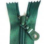 """A B Q Designer Bag Zipper 22"""" Blue Spruce"""
