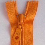 "A B Q Designer Bag Zipper 22"" Pumpkin"