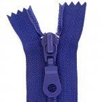 "A B Q Designer Bag Zipper 22"" Royal Blue"