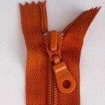 """A B Q Designer Bag Zipper 22"""" Rust"""