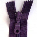 "A B Q Designer Bag Zipper 22"" Wineberry"