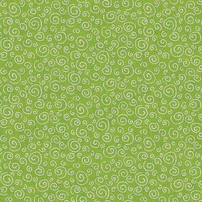 Benartex Joey The Shop Dog Curls Green