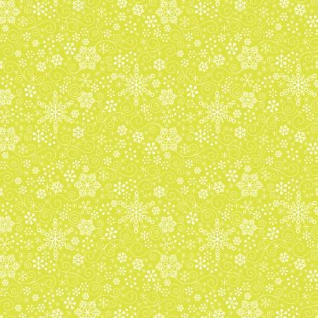 Contempo Mulberry Lane Snowflakes Lime