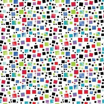 Contempo Anything Goes Multi Squares White