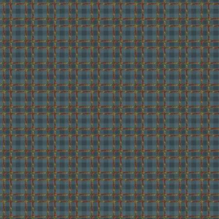 Benartex Crafty Plaid Dark Blue